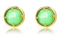 TRACEY CHEN | GEOMETRY STUDS OF GREEN BURMA JADEITE SMALL CIRCLE SHAPE (GOLD) | G072