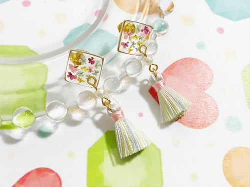 HEI THERE | (POP UP) SMALL SQUARE TASSEL MULTICOLOUR H244