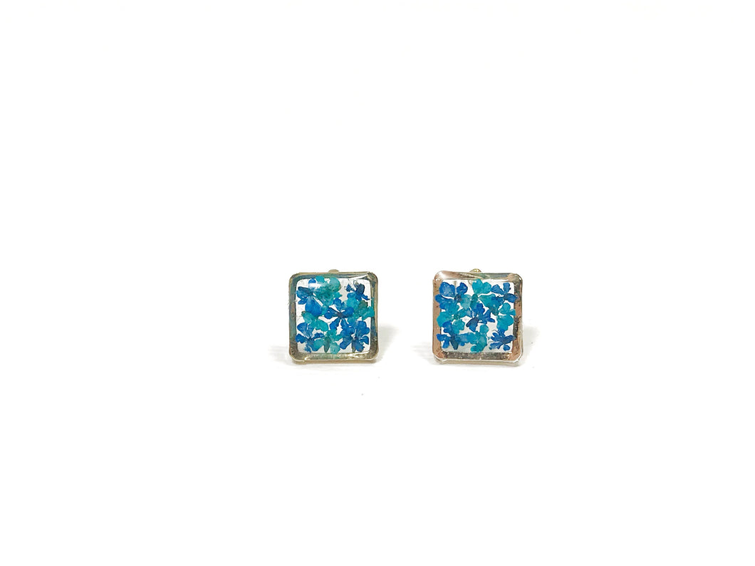 HEI THERE | MINI SQUARE EARRINGS (COBALT BLUE, ULTRAMARINE) | H276