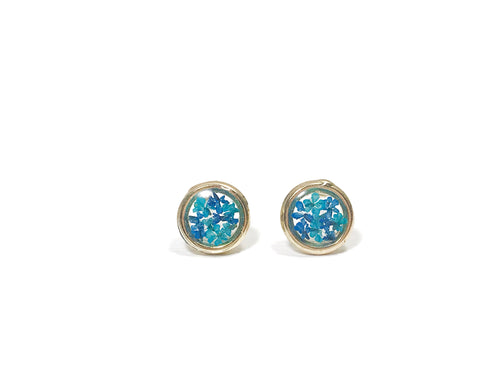HEI THERE | MINI CIRCLE EARRINGS (COBALT BLUE, ULTRAMARINE) | H286