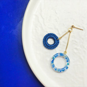 HEI THERE | DOUBLE DONUT EARRINGS (ROYAL BLUE) | H460