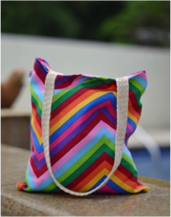 JENNY RAGNWALDH |  ZIG ZAG RAINBOW CANVAS BAG  |  JRC001