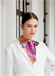 JENNY RAGNWALDH |  SUMMER FLOWER SILK BOW NECKLACE  |  JRN001