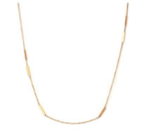 TRACEY CHEN | SHINGING RECLARITYANGLE LONG NECKLACE (ROSEGOLD) | S018
