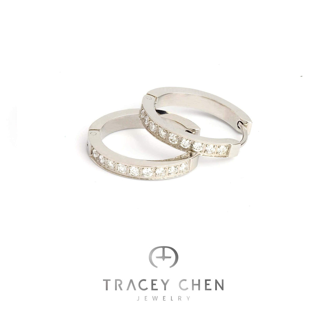 TRACEY CHEN | SHINGING NATURAL DIAMONDS EARRINGS AND RINGS (WHITEGOLD) | S002