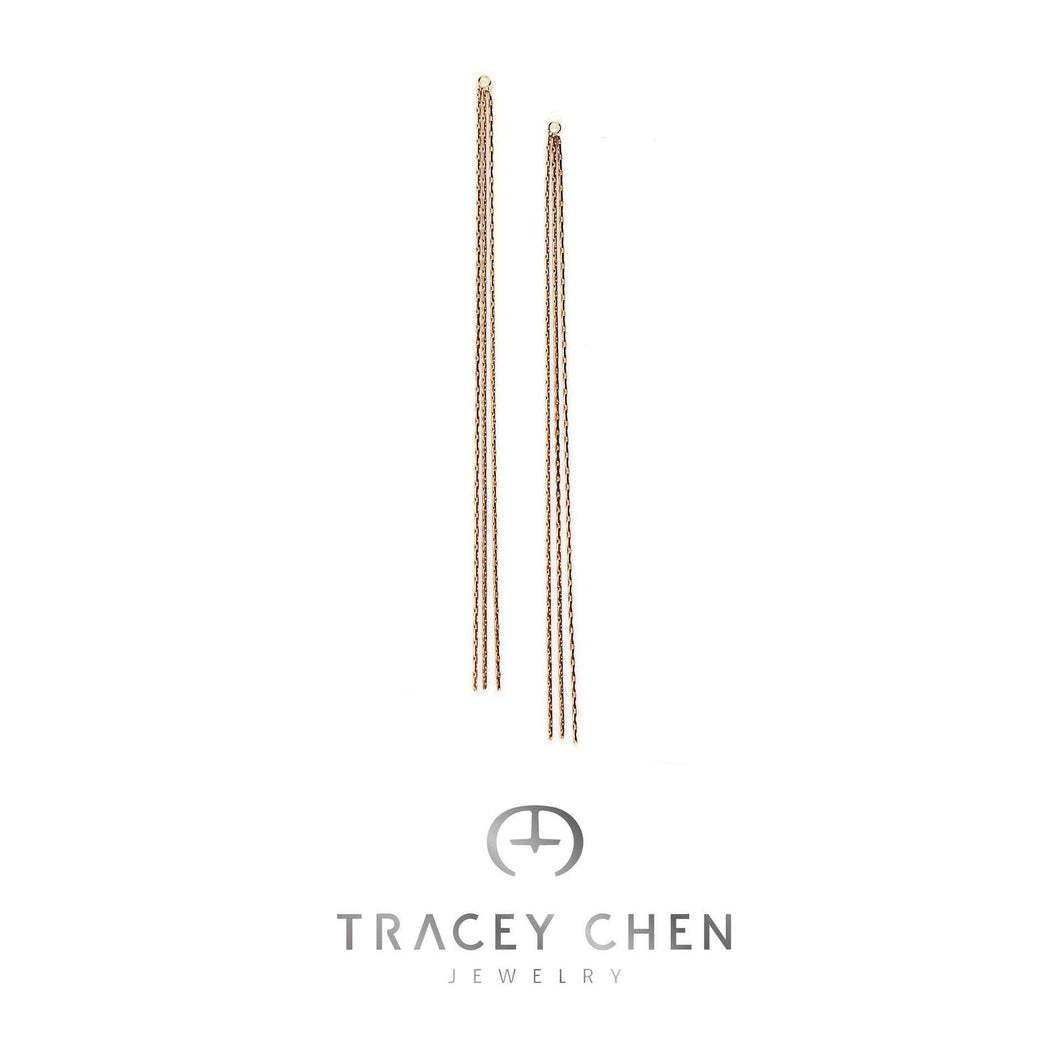 TRACEY CHEN | SHINGING LONGTAIL EARRING PLUS (ROSEGOLD) | S020