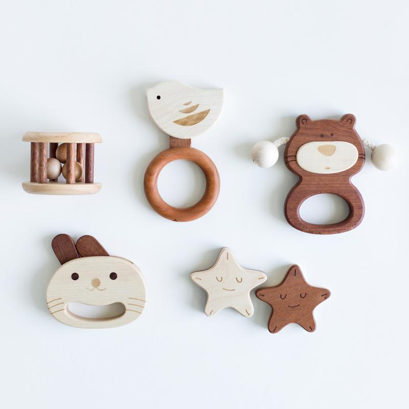 LOVELY MO | BABY RATTLE GIFT SET 1 [BEAR] | XS-5-A