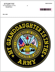 Army - Decal - My Granddaughter is in the Army