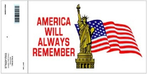 Patriotic - Decal - America Will Always Remember