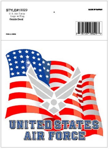 Air Force - Decal - United States Air Force w/Flag and Emblem