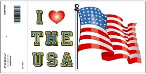 Patriotic - Decal - I Love the USA (Heart)