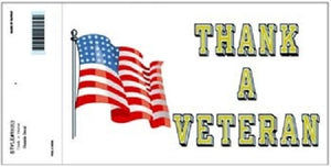 Patriotic - Decal - Thank a Veteran