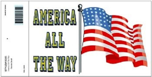 Patriotic - Decal - America All the Way