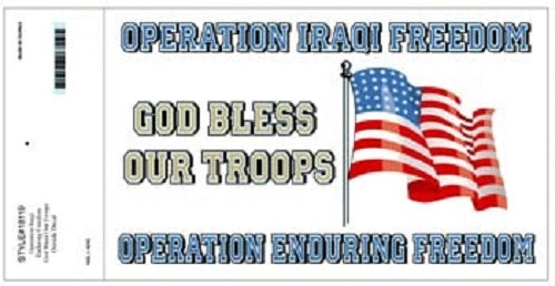 Patriotic - Decal - God Bless Our Troops (OIF-OEF)