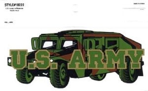 Army - Decal - U.S. Army Humvee