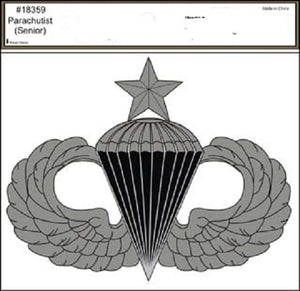 Army - Decal - Senior Parachute Jump Wings