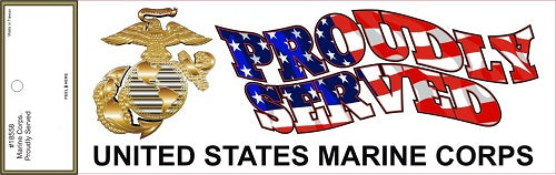 Marines - Decal - Proudly Served United States Marine Corps