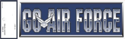 Air Force - Decal - Go Air Force w/Emblem