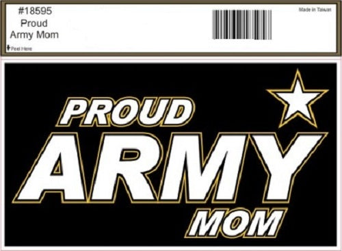 Army - Decal - Proud Army Mom
