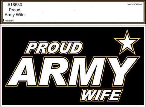 Army - Decal - Proud Army Wife