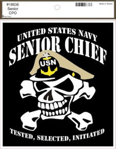 Navy - Decal - Senior Chief (Skull)