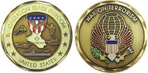 War & Op Challenge Coin - Operation Iraqi Freedom