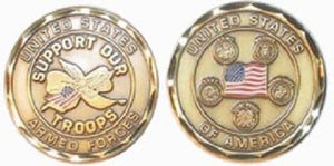 Challenge Coin - Support Our Troops
