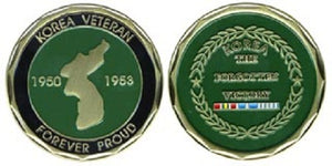 War & Op Challenge Coin - Korean Veteran