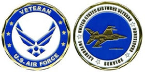Air Force Challenge Coin - Veteran (Style 1)