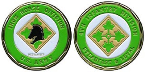 Army Challenge Coin - 4th Infantry - Iron Horse Division