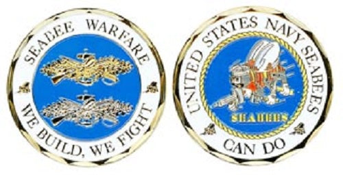 Navy Challenge Coin - Seabee Warfare