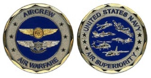 Navy Challenge Coin - Air Crew Air Warfare