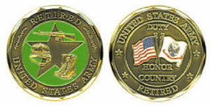 Army Challenge Coin - U.S. Army Retired