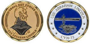 Navy Challenge Coin - USS Abraham Lincoln