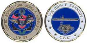 Navy Challenge Coin - USS Kennedy