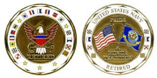 Navy Challenge Coin - US Navy Retired