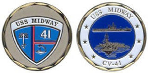 Navy Challenge Coin - USS Midway