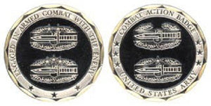 Army Challenge Coin - Combat Action Badge