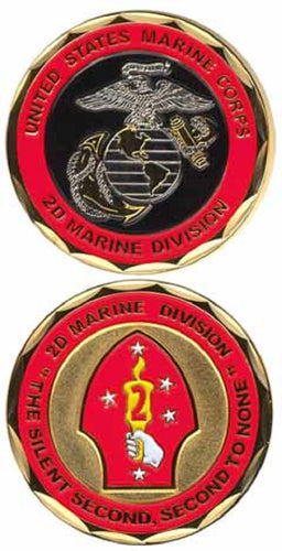 Marines Challenge Coin - 2nd Marine Division