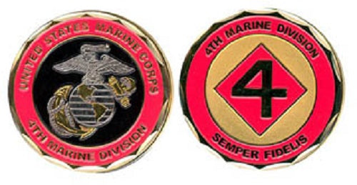 Marines Challenge Coin - 4th Marine Division