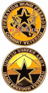 Army Challenge Coin - Operation Iraqi Freedom Combat Veteran