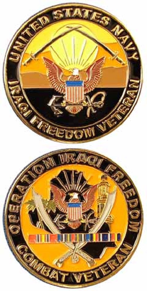 Navy Challenge Coin - Operation Iraqi Freedom Combat Veteran