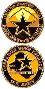 Army Challenge Coin - Operation Iraqi Freedom On Duty