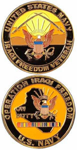 Navy Challenge Coin - Operation Iraqi Freedom On Duty