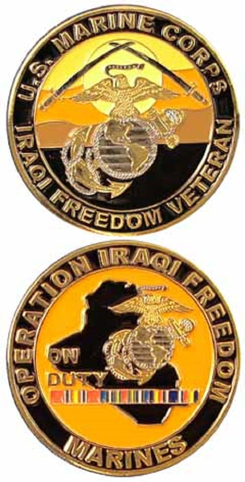 Marines Challenge Coin - Operation Iraqi Freedom On Duty