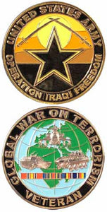 Army Challenge Coin - Operation Iraqi Freedom Veteran - GWOT