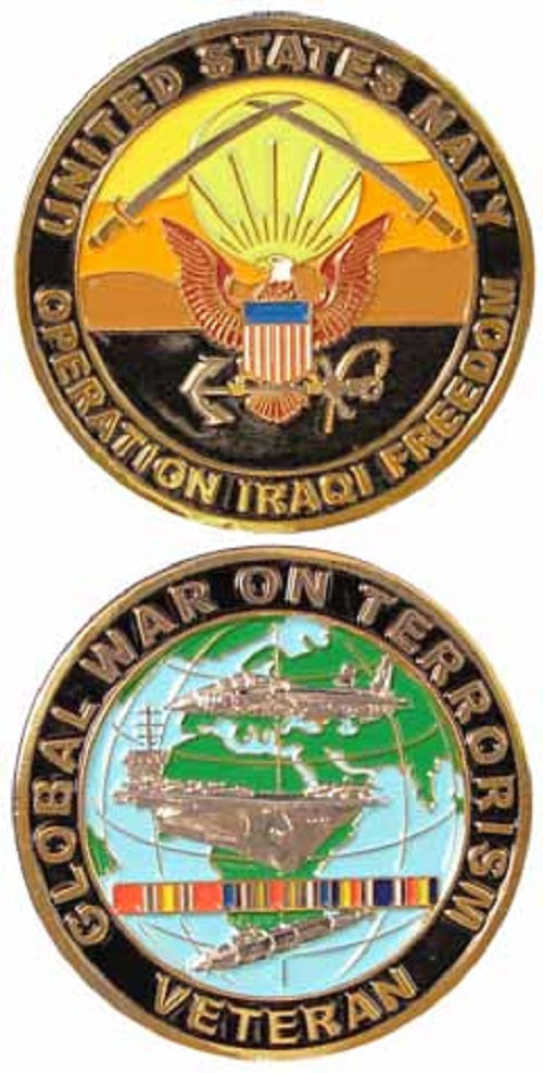 Navy Challenge Coin - Operation Iraqi Freedom Veteran War on Terror