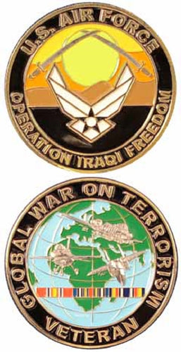 Air Force Challenge Coin - Operation Iraqi Freedom Veteran - GWOT