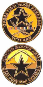 Army Challenge Coin - Operation Iraqi Freedom Veteran