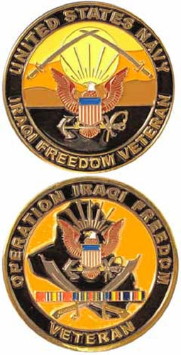 Navy Challenge Coin - Operation Iraqi Freedom Veteran